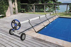 enrollador cubierta solar piscina